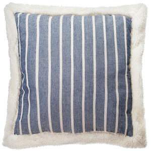 Mason Filled Square Cushion Denim