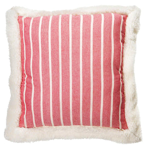 Mason Filled Square Cushion Red
