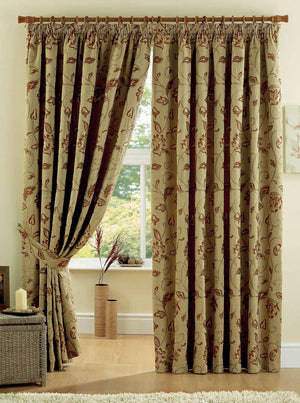 Maybury Ready Made Curtains Terracotta