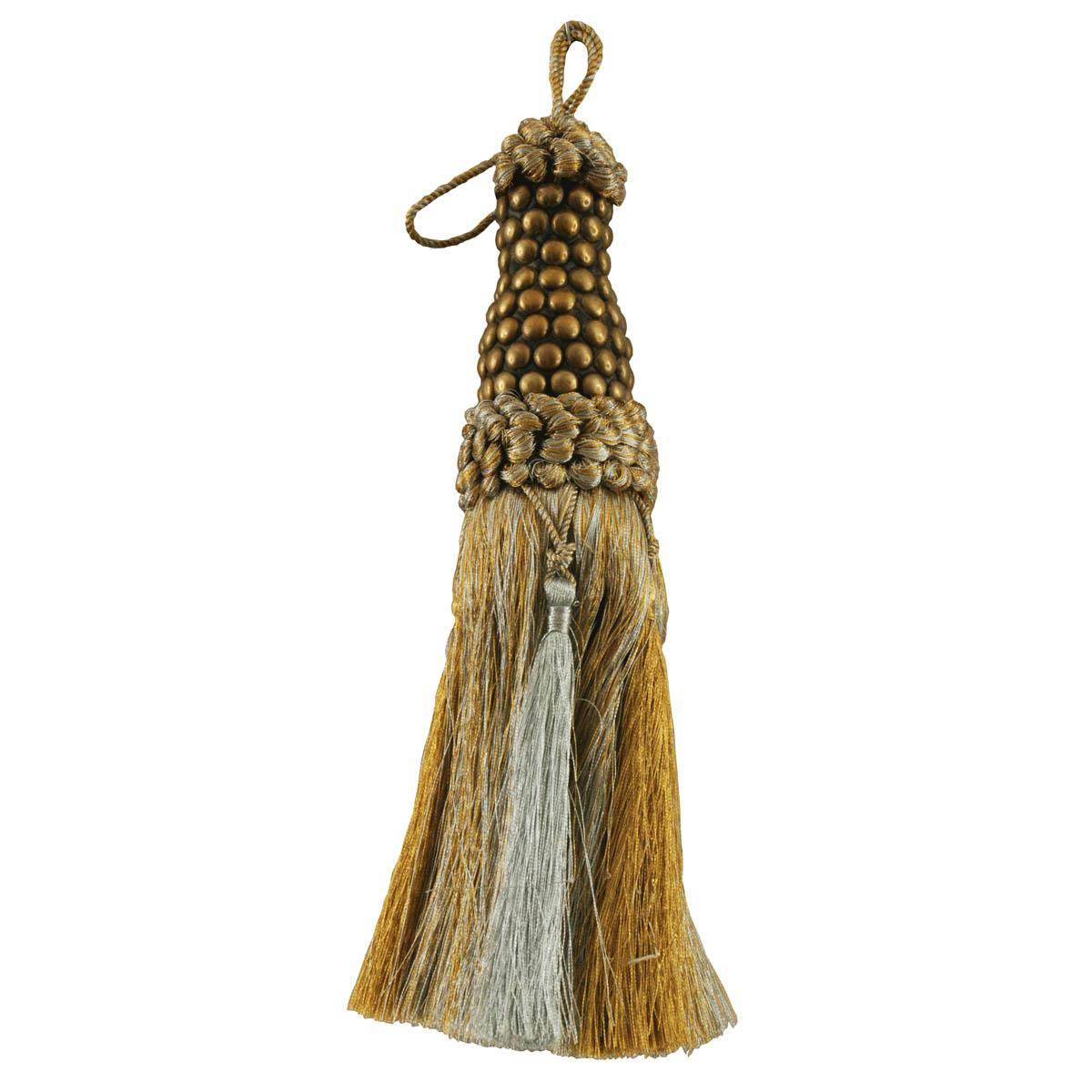 Click to view product details and reviews for Metallic Key Tassel Silver Gold.
