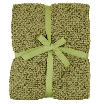 Riva Cushions And Throws Milly Woven Boucle Throw Green Picture