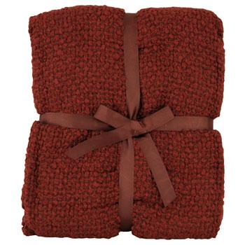 Riva Cushions And Throws Milly Woven Boucle Throw Rust Picture