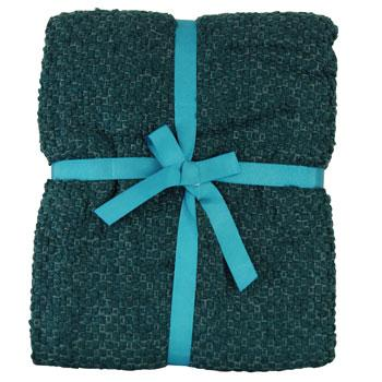 Riva Cushions And Throws Milly Woven Boucle Throw Teal Picture