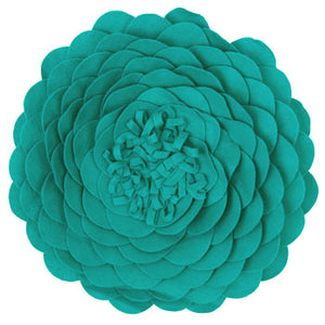 Opium Round Filled Cushion Teal