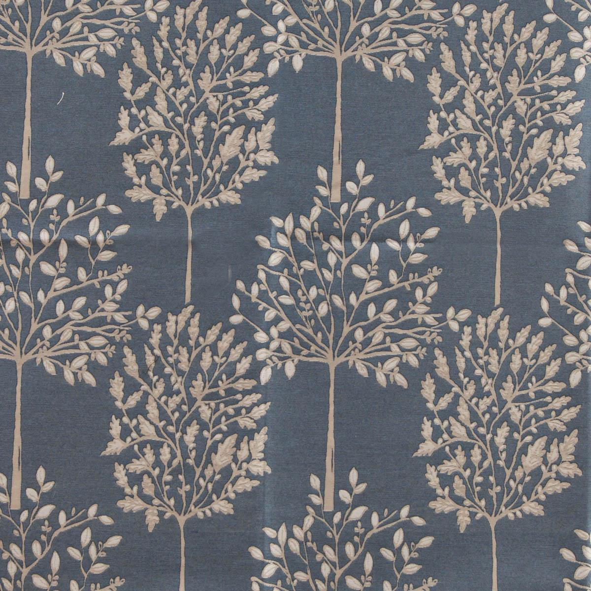 SMD Fabrics Orchard Curtain Fabric Indigo Picture