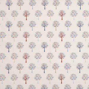 Orchard Curtain Fabric Blue