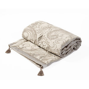 Julian Charles Paisley Bed Throw Natural