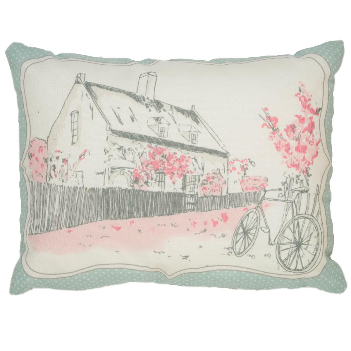 J Rosenthal Cushions And Throws Patsy Boudoir Cushion Filled Rose Picture