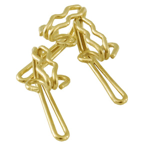 Curtain Hooks (Pk 100) Brass