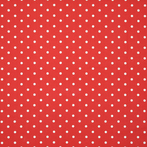 Polka Dot Large Curtain Fabric Red