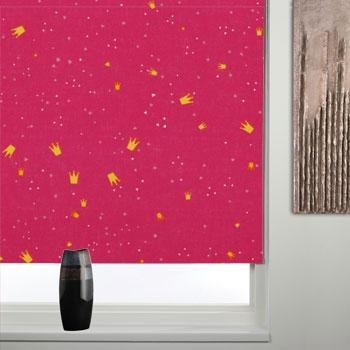Thermal Patterned Blackout Roller Blind Princess Pink