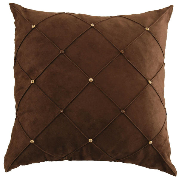 Suede Toggle cushion Chocolate