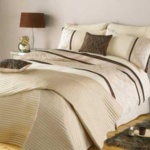 Regency Quilted Duvet Cover Oyster