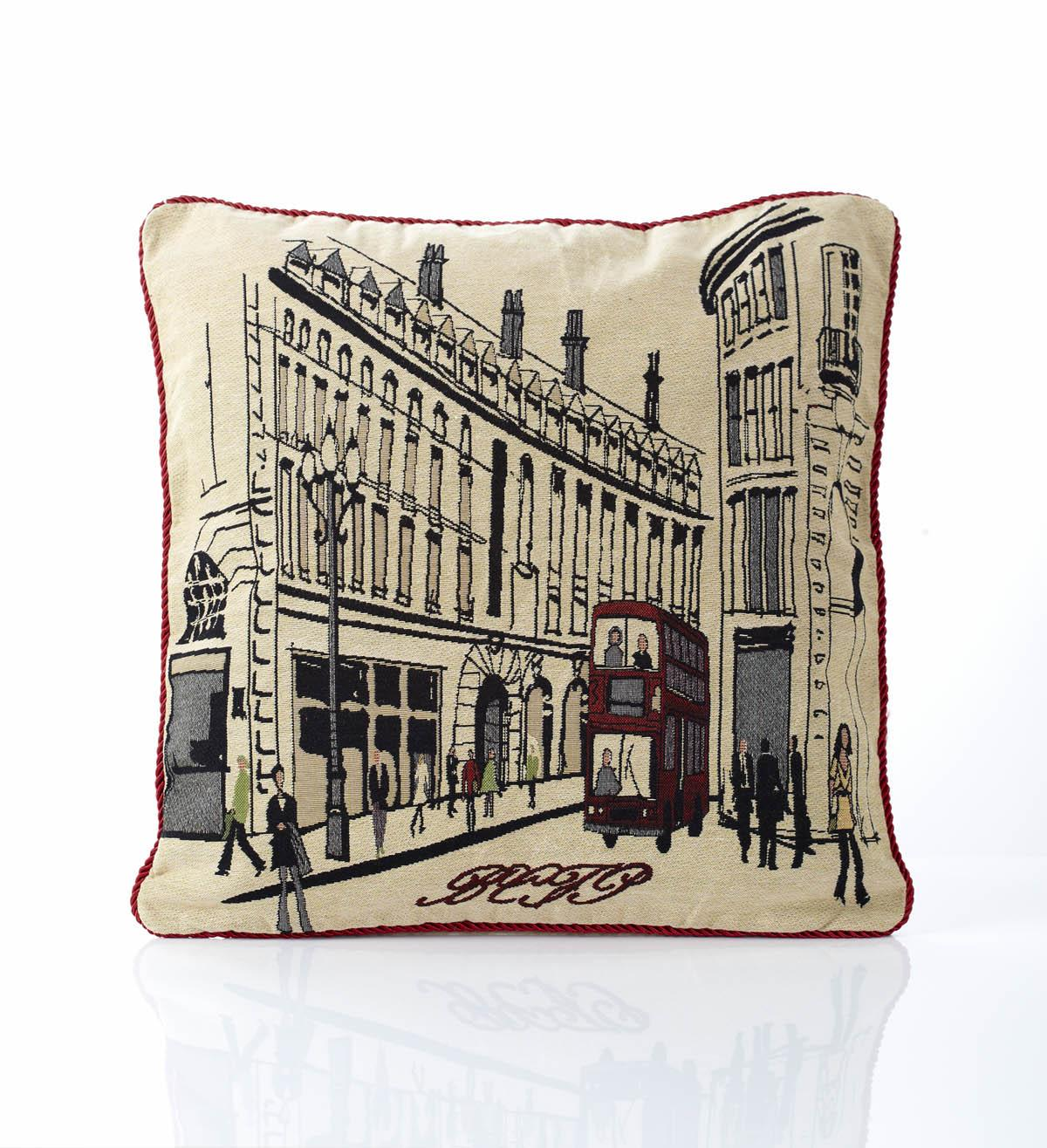 Alan Symonds Cushions And Throws Regent Street Tapestry Filled Cushion  ... Picture