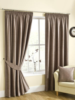 Puerto Ready Made Lined Curtains Mink