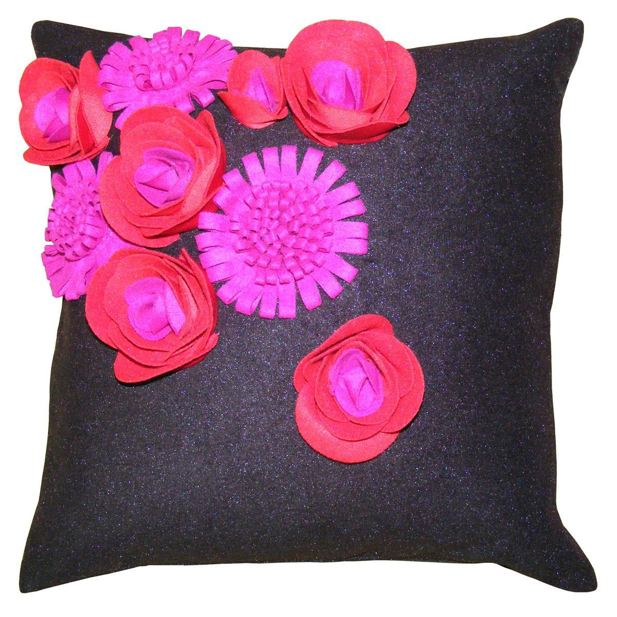 Riva Cushions And Throws Rosanna  45cm x 45cm CC Black/Red Picture
