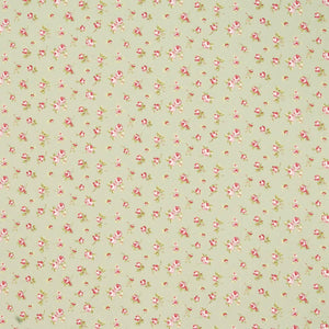 Rosebud Curtain Fabric Sage
