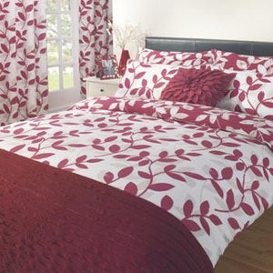 Savannah Printed Duvet Set Red
