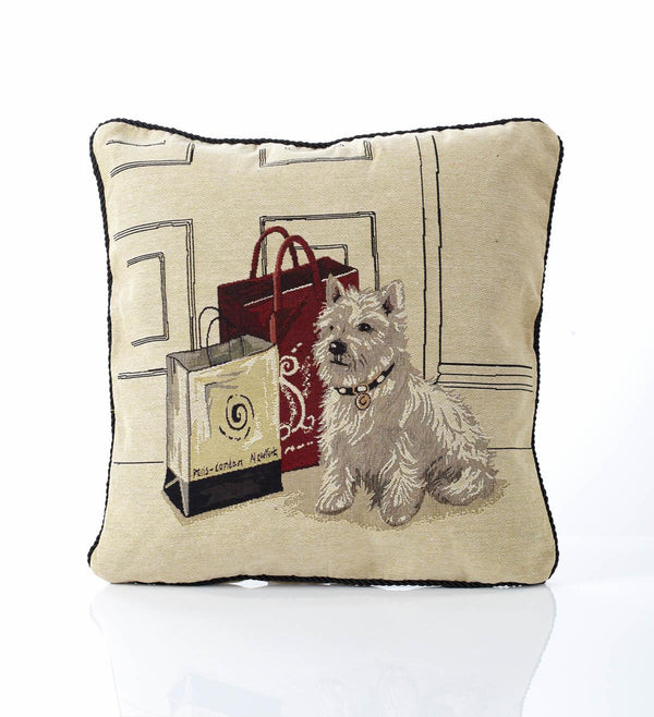 Scotty Dog Tapestry Filled Cushion Multi