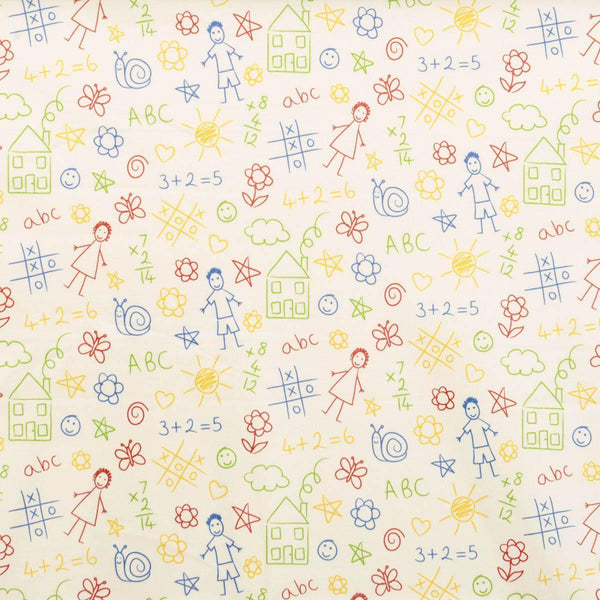 Scribble PVC Fabric Multi