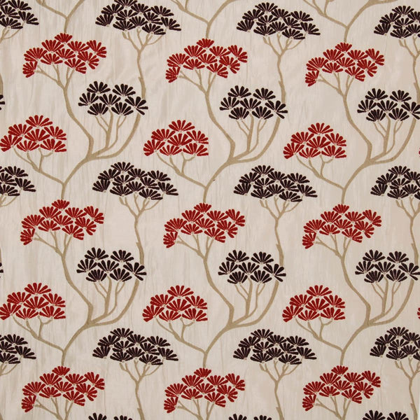 Serenity Curtain Fabric Rouge