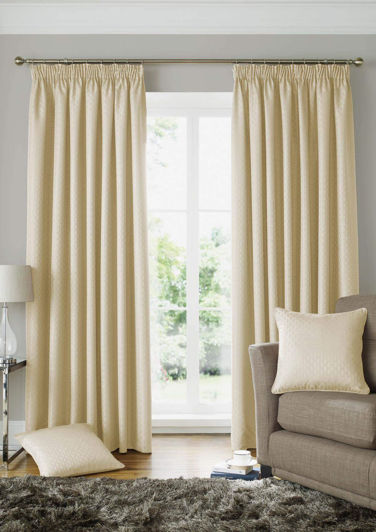 Alan Symonds Ready Made Curtains Solitaire Ready Made Lined Curtains Cream Picture