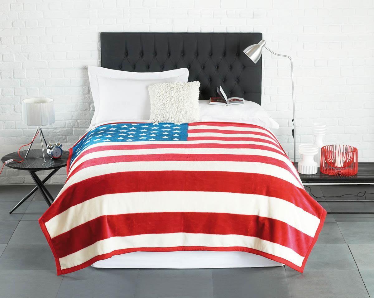 Beamfeature Bedding Stars and Stripe Luxury Blanket Multi