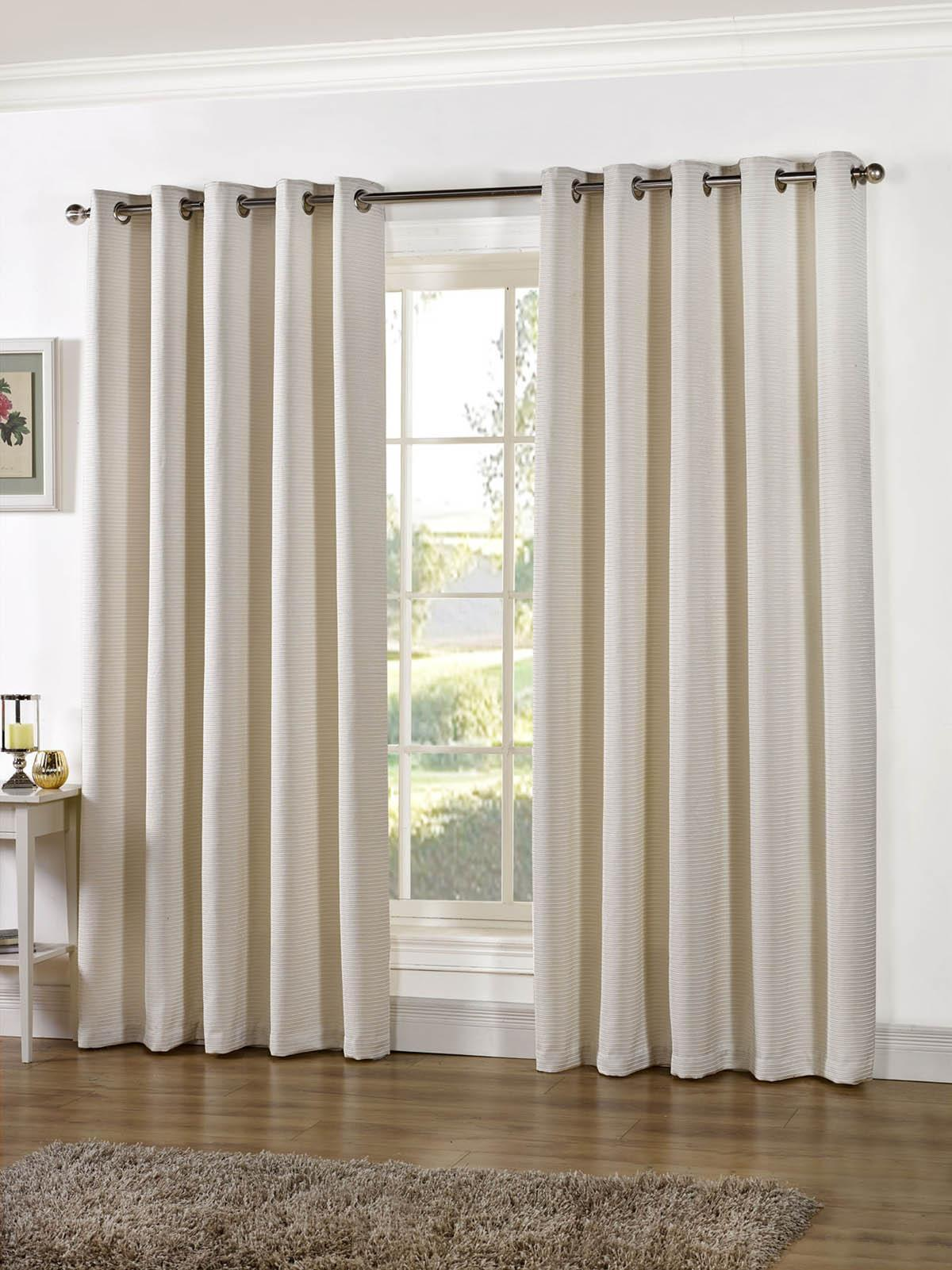 creamy beige curtain itm lace sheer door design eyelets with drapes bedroom curtains fabric ivory