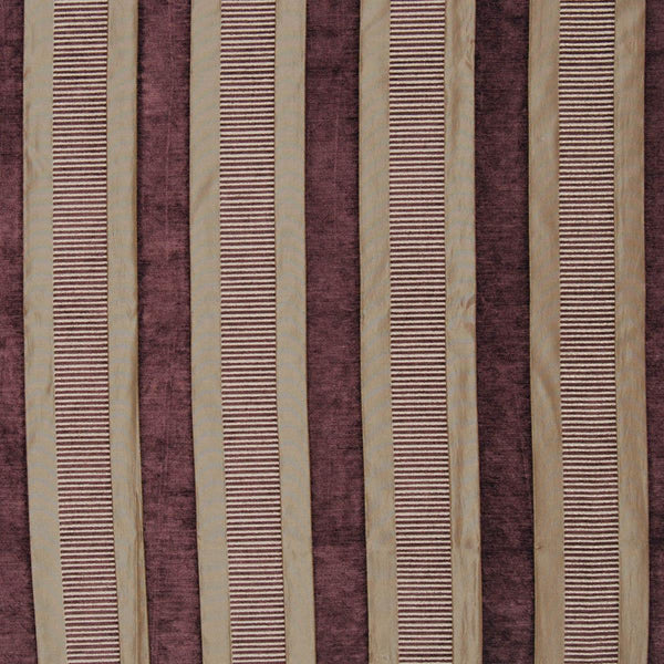 Taipei 2 Curtain Fabric Aubergine