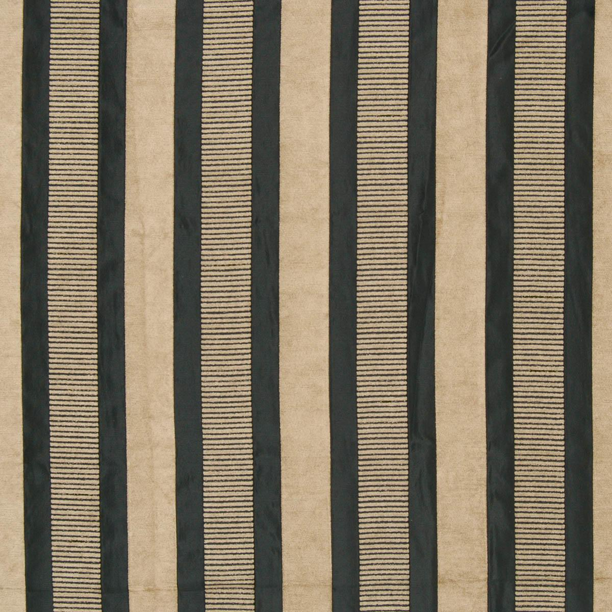 Taipei 2 Curtain Fabric Black