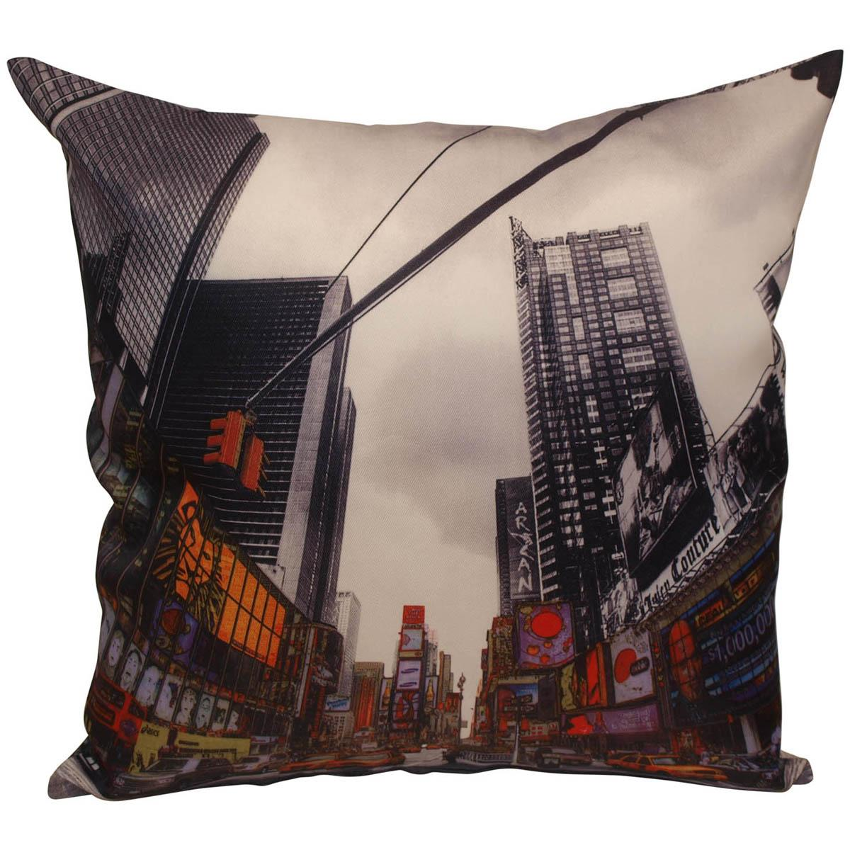 Alan Symonds Cushions And Throws Time Square Filled Cushion Multi Picture