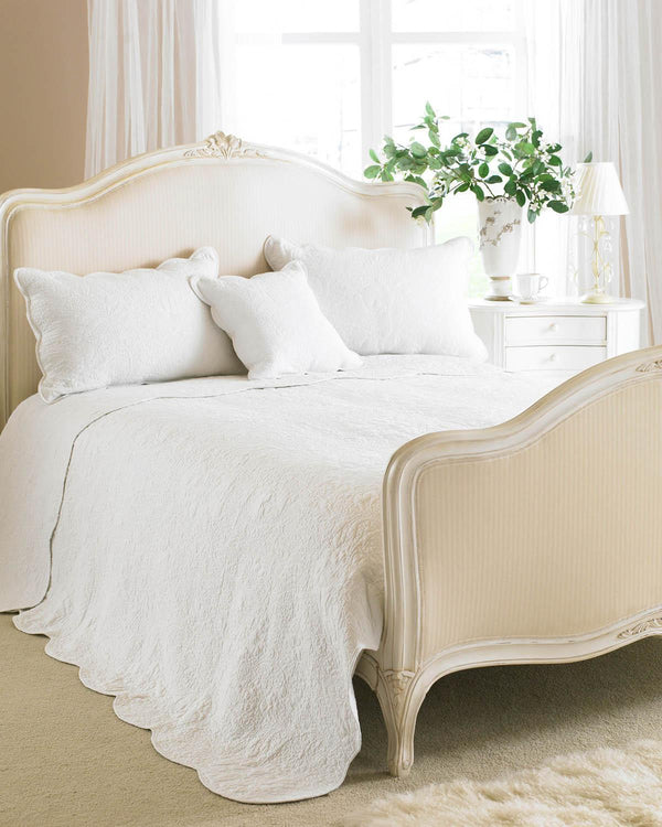 Toulon Quilted Bedspread White