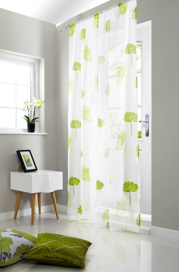 Tuscany Rod Pocket Voile Panel Lime
