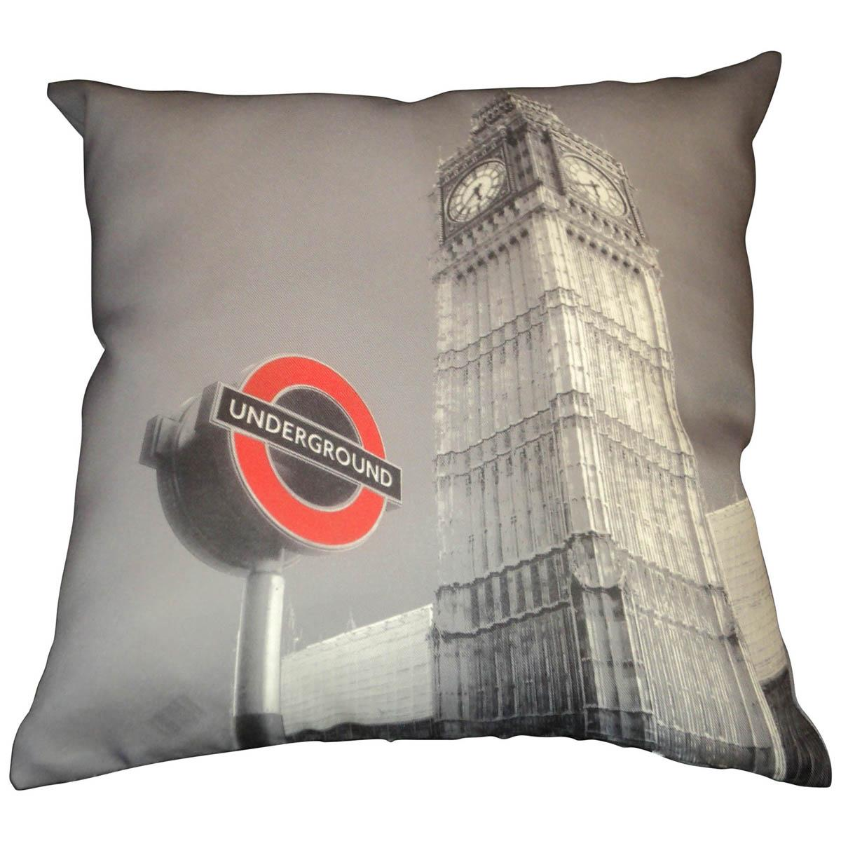 Alan Symonds Cushions And Throws Underground Filled Cushion Multi Picture