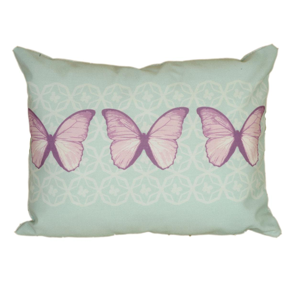 J Rosenthal Cushions And Throws Vanessa Boudoir Cushion Filled Aqua Picture