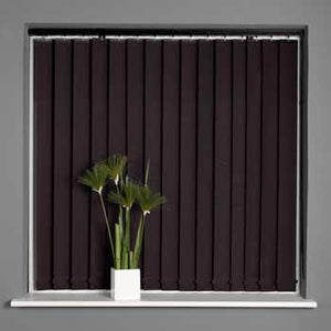 Milano Vertical Blind Stripe Black
