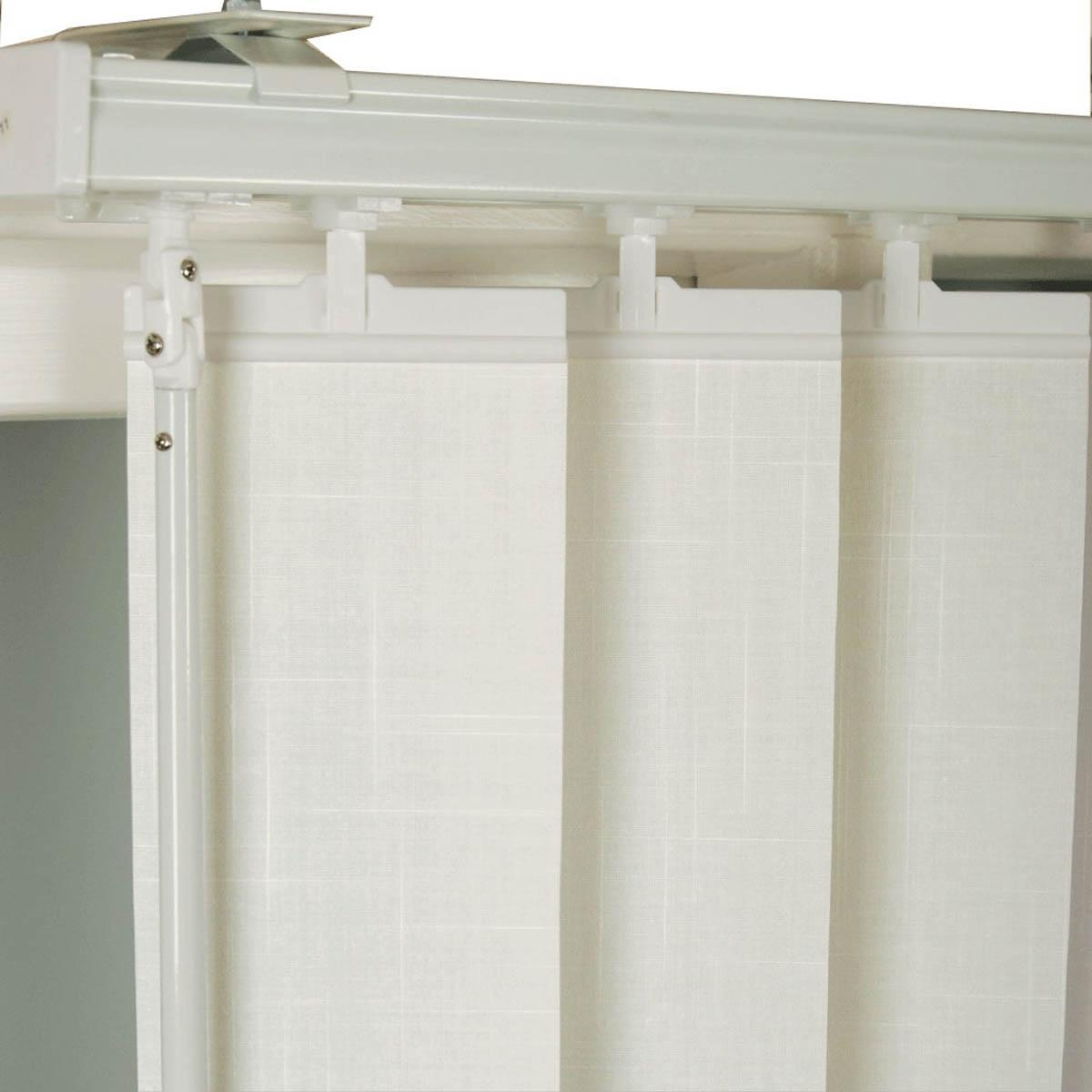Ready Made White Vertical Blinds 94 drop White