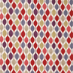 Verve Curtain Fabric Berry