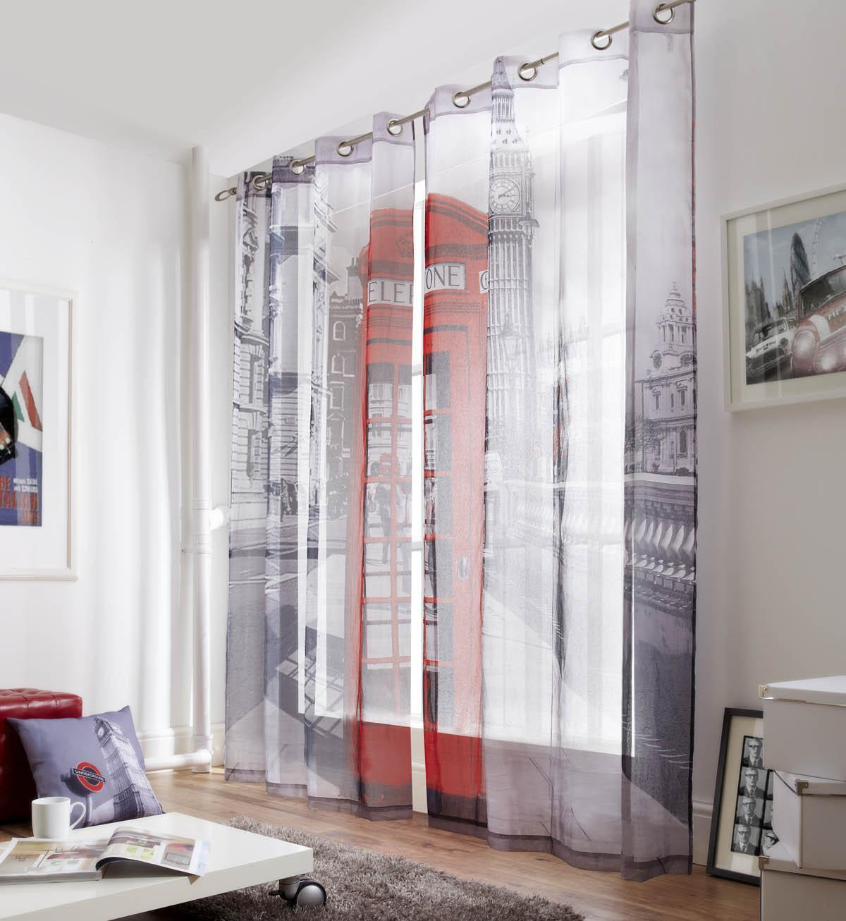Alan Symonds Ready Made Curtains Westminster Ready Made Eyelet Lined Voile  ... Picture