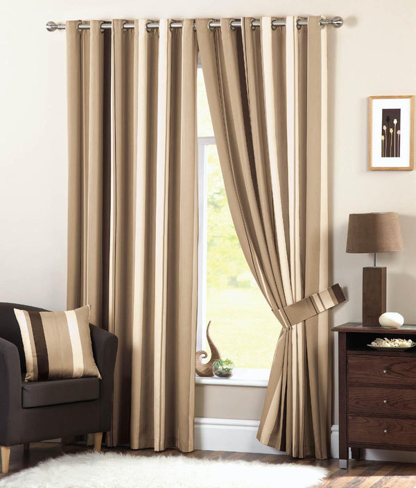 Whitworth Eyelet Lined Curtain Natural