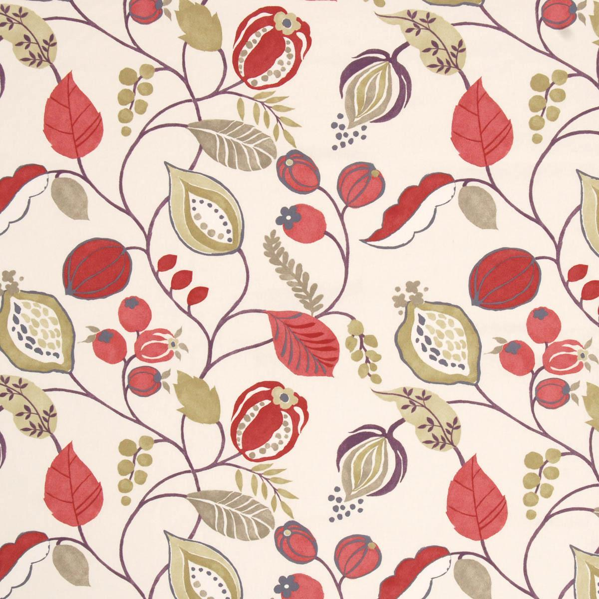 Zest Curtain Fabric Berry
