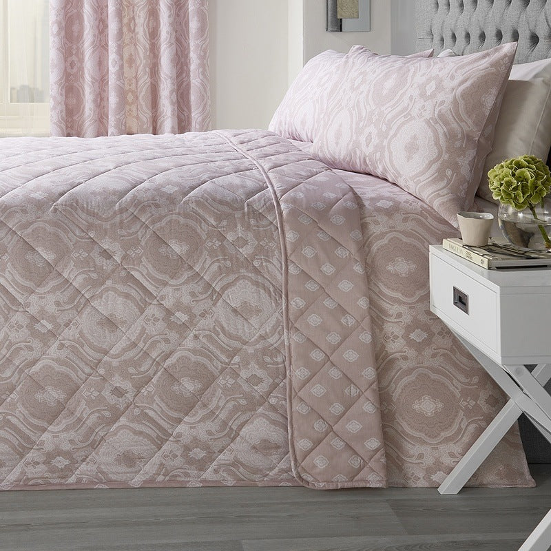 J Rosenthal Cushions And Throws Alford Bedspread Blush Picture