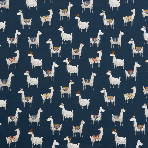 Alpaca Curtain Fabric Indigo