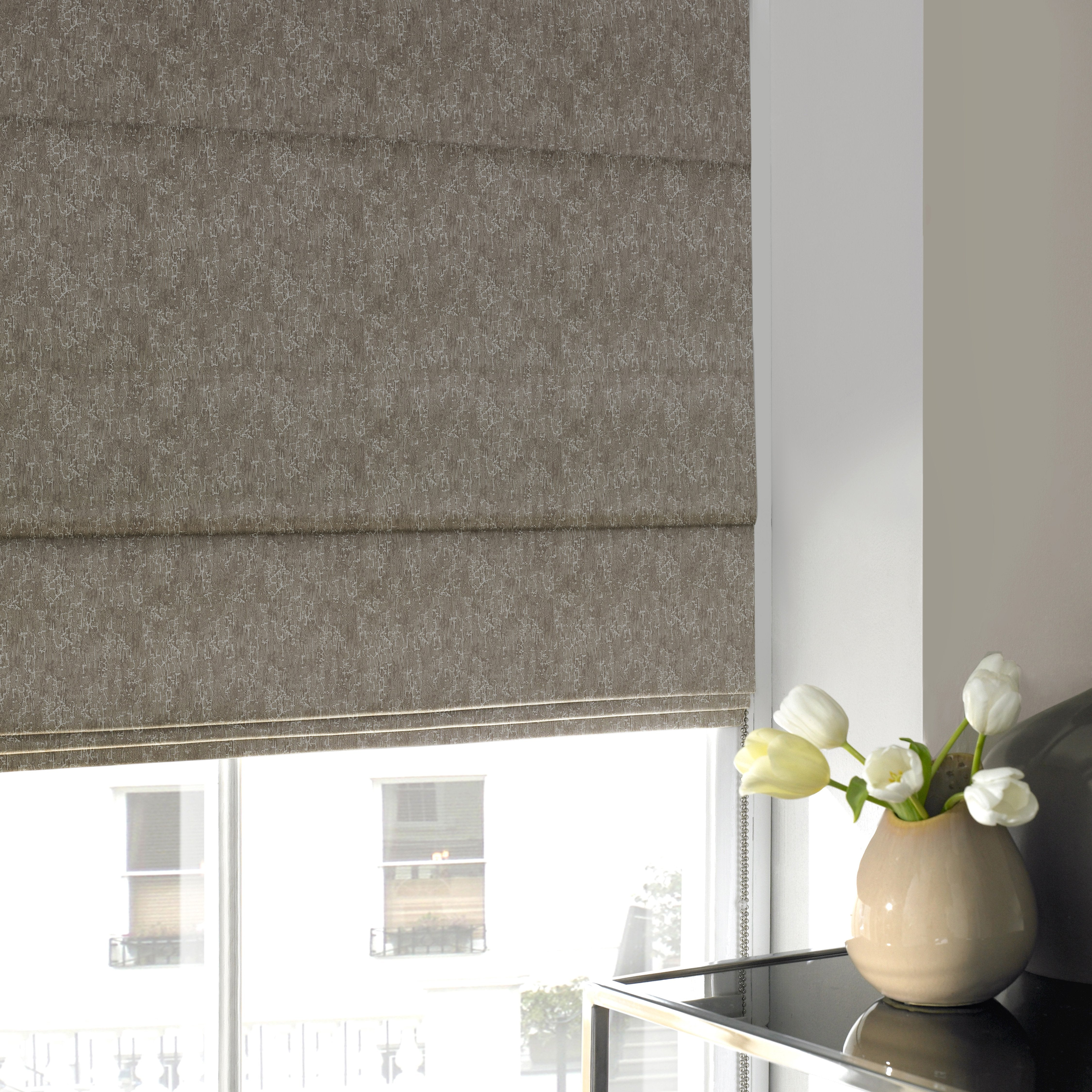 Illuminate Blinds Alturas Roman Blind Taupe Picture