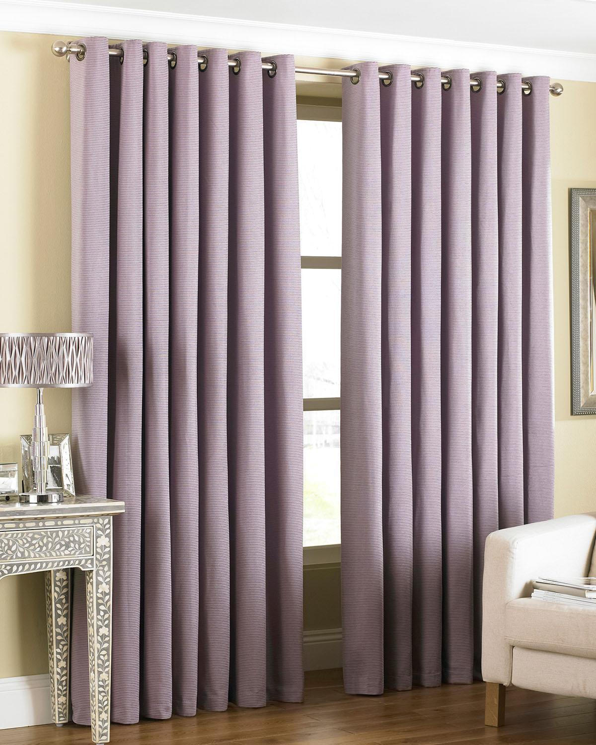 Riva Ready Made Curtains Amari Ready Made Eyelet Curtains Heather Picture