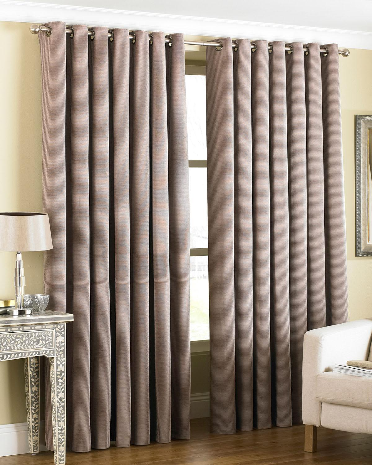 Riva Ready Made Curtains Amari Ready Made Eyelet Curtains Taupe Picture