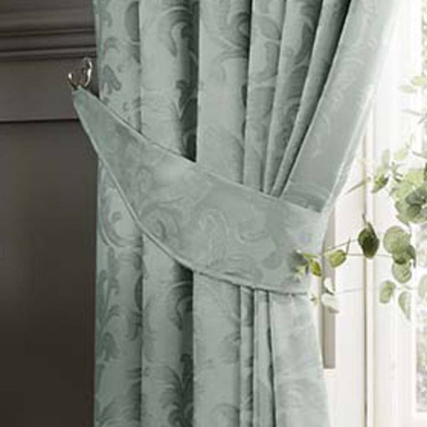 Anderton Chenille Ready Made Curtains Duckegg