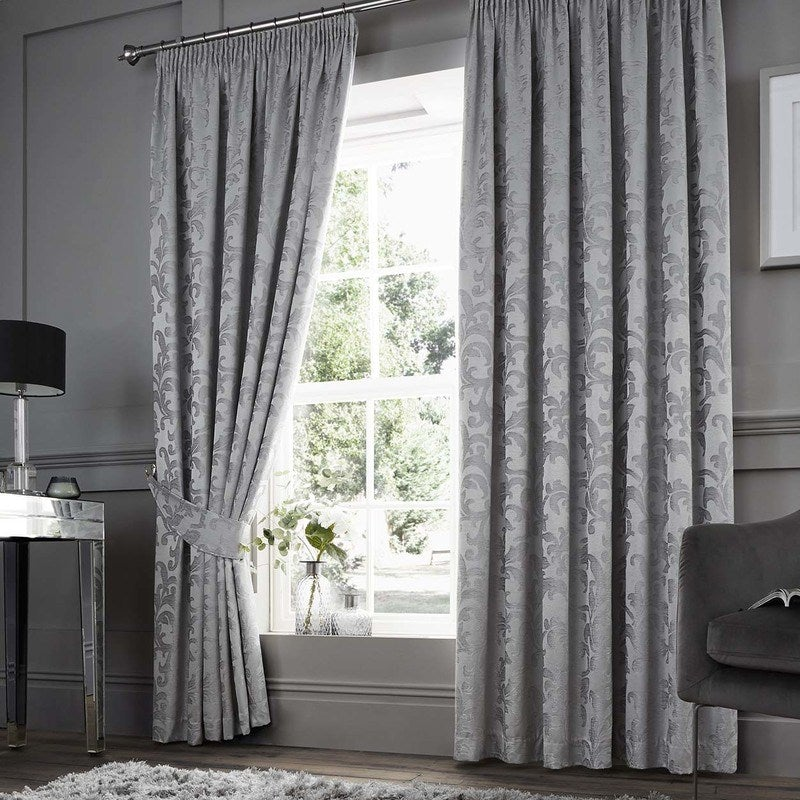 J Rosenthal Ready Made Curtains Anderton Chenille Ready Made Curtains Silver