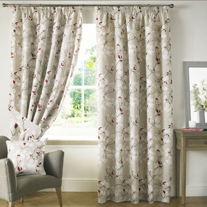Anita Ready Made Lined Curtains Poppy