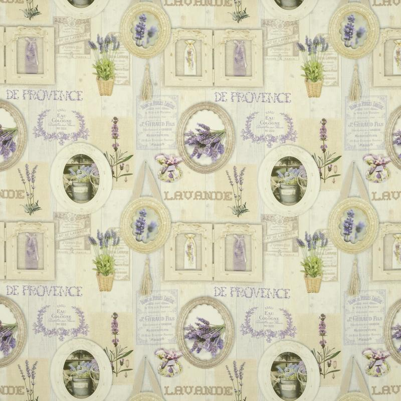 AntIbes Curtain Fabric Lavender